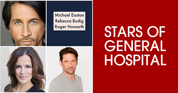 Roger Howarth, Michael Easton and Rebecca Budig